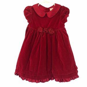 Gymboree red Velvet holiday dress Christmas 18m